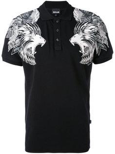 футболка-поло с принтом львов Just Cavalli
