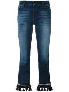укороченные расклешенные брюки 7 For All Mankind