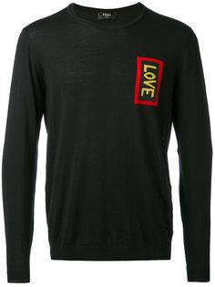 свитер с вышивкой Love Fendi