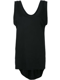 scoop neck tail tank top Bassike