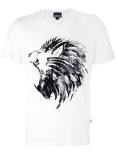 футболка с принтом льва Just Cavalli