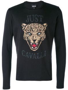 толстовка с принтом льва Just Cavalli
