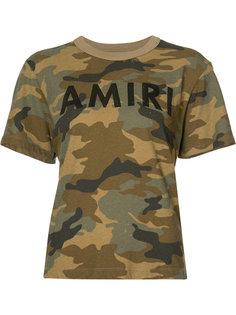 футболка с камуфляжным узором  Amiri