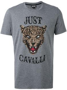 футболка с принтом морды льва Just Cavalli
