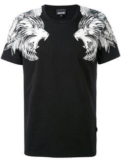 футболка с принтом львов Just Cavalli