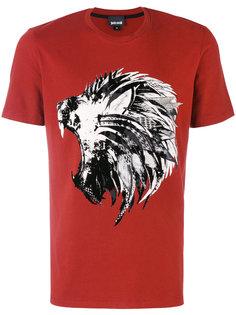 футболка с притом льва Just Cavalli