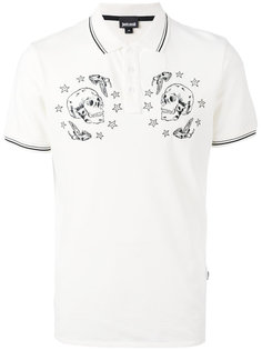 футболка-поло с принтом черепов Just Cavalli