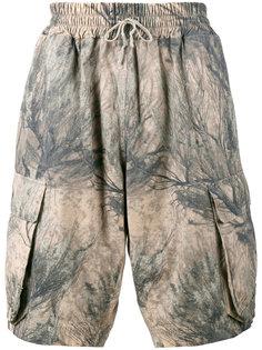 камуфляжные шорты-карго Yeezy