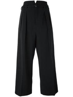 укороченные брюки со складками Red Valentino