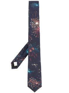 галстук с принтом фейерверков Valentino