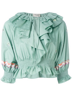 блузка с оборками Temperley London