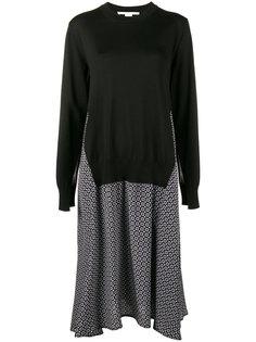 принтованное платье с эффектом надетого поверх свитера Stella McCartney