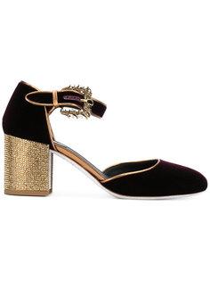 бархатные туфли с пряжкой René Caovilla