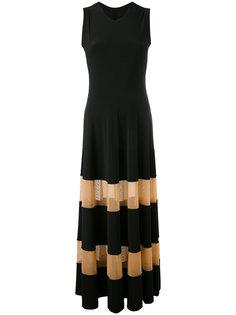 платье с прозрачными панелями Norma Kamali
