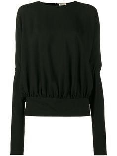 блузка с длинными широкими рукавами Saint Laurent