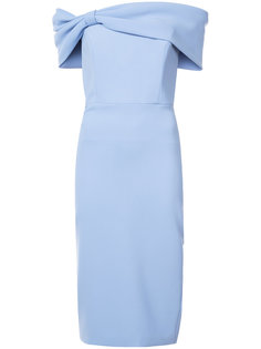 fitted off-the-shoulder dress Christian Siriano