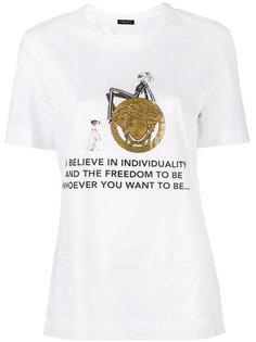 футболка с принтом Individuality Versace
