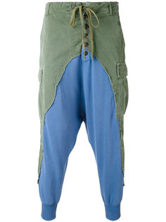 patchwork drop-crotch trousers Greg Lauren
