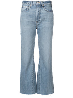 flared cropped jeans Re/Done