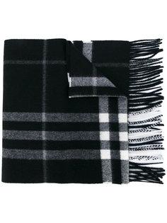 клетчатый шарф с необработанным краем Burberry