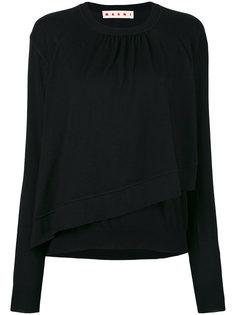 асимметричный свитер с оборками Marni