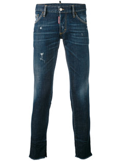 джинсы кроя скинни с потертой отделкой Dsquared2