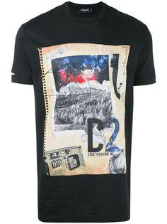 футболка с принтом Star Trekking Dsquared2
