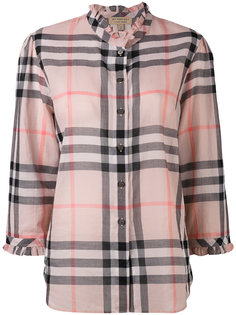клетчатая рубашка с оборками Burberry