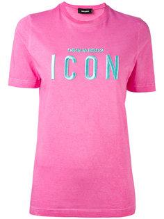 футболка с вышивкой ICON Dsquared2