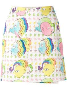 mini blotter print skirt Olympia Le-Tan