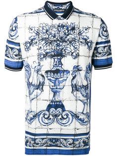 рубашка-поло с принтом Dolce & Gabbana