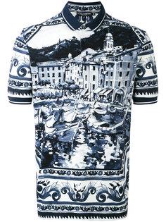 футболка-поло с принтом пейсли Dolce & Gabbana