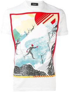 футболка с принтом лыжников Dsquared2