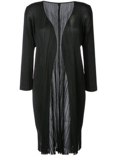 fringed coat  Pleats Please By Issey Miyake