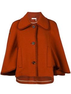 классическое пальто-кейп Chloé