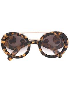 baroque frame sunglasses Prada Eyewear