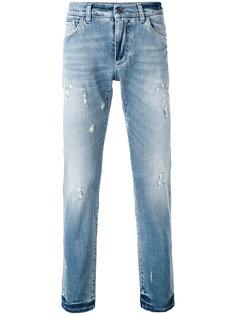 выбеленные джинсы прямого кроя Dolce & Gabbana