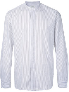 striped mandarin neck shirt Lemaire