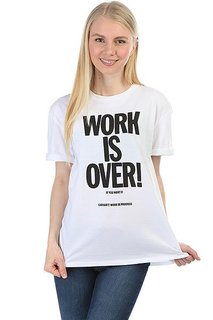 Футболка женская Carhartt Work Is Over White / Black