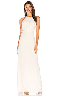Round neck gown with flounce back - Halston Heritage