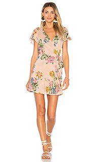 Свободное мини платье с запахом havana nights - AUGUSTE