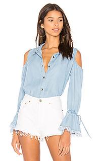 Рубашка индиго на пуговицах - Splendid