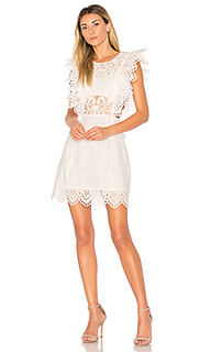 Eyelet apron mini dress - Nightcap