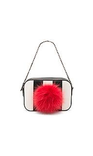 Roy bunny bag with fur pom - les petits joueurs
