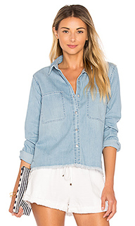 Step hem denim shirt - 7 For All Mankind
