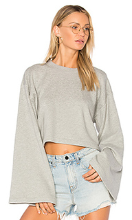 Tie back crop sweatshirt - T by Alexander Wang
