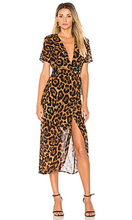 Leopard wrap dress - Bardot