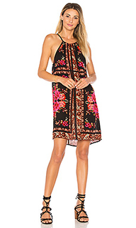 Scarf print high neck dress - Band of Gypsies