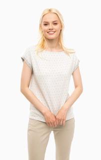 Плотная серая футболка в горошек S.Oliver