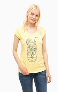 Желтая футболка с круглым вырезом Mustang